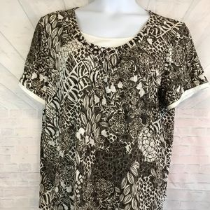 Erika Women Plus Size 1X 2 in 1 Shirt.